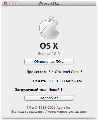 Hackintosh Mac OS X Mavericks